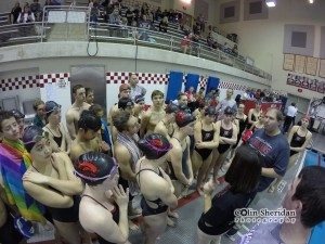 Coach talks to the team before the PMW meet